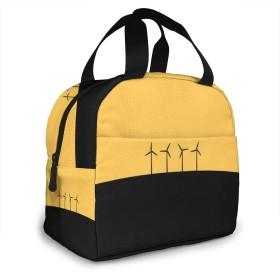 保冷バッグ エコバッグ ランチバッグ 買い物バッグ 風車 四台 手提げバッグ おしゃれ 保冷保温