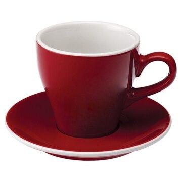 金時代書香咖啡愛陶樂 Tulip 80 咖啡杯盤組80cc紅色 31131038 HG0762RD