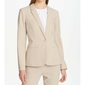 Blazer ブレザー ファッション フォーマル Calvin Klein NEW Khaki Beige Womens Size 6 One-Button Solid Blazer