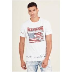 Religion  ファッション トップス True Religion Mens Land Of The Free Tee T-Shirt
