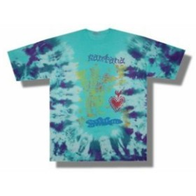ファッション トップス Santana-Icons-World Tour-X-Large Blue Tie Dye T-shirt
