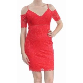 GUESS ゲス ファッション ドレス Guess Womens Dress Red Size XS Sheath Floral Lace Bodycon V-Neck