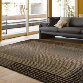 畳 い草ラグ 右京 191×250 3畳 滑り止め無し い草 畳マット グレー