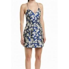 Alice + Olivia アリス+オリビア ファッション ドレス Alice + Olivia NEW Blue Womens Size 12 Floral Printed Sheath Dress