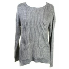 ファッション トップス Grace Elements New Grey Long-Sleeve Lurex Crewneck Sweater L