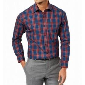 ファッション アウター Club Room NEW Blue Mens Size 18 Button Down Regular Fit Dress Shirt