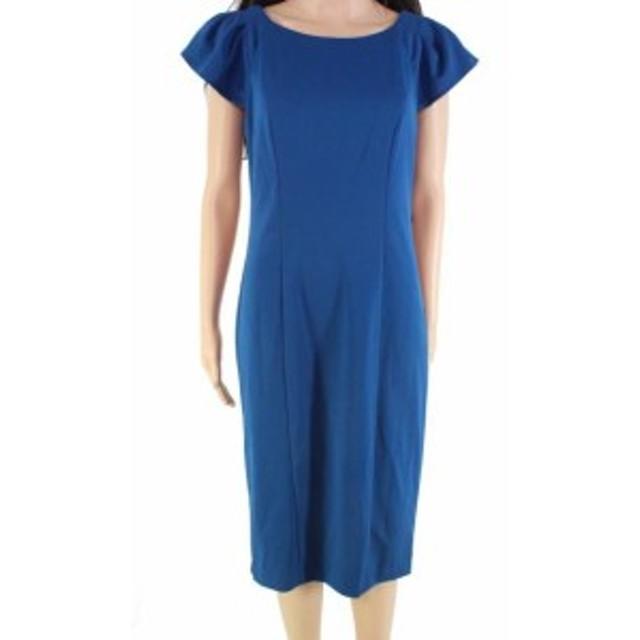 American  ファッション ドレス American Living Womens Dress Stone Blue Size 6 Scoop-Neck Gown