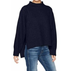 moon ムーン ファッション トップス Moon River NEW Blue Womens Size Small S Mock Neck Side Slit Sweater