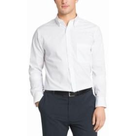 ファッション ドレス Van Heusen NEW White Mens 17 1/2 Button Down Regular Fit Dress Shirt