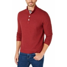 Tommy Bahama トミーバハマ ファッション トップス Tommy Bahama Mens Sweater Red Size 3XL Mock-Neck Pullover Henley