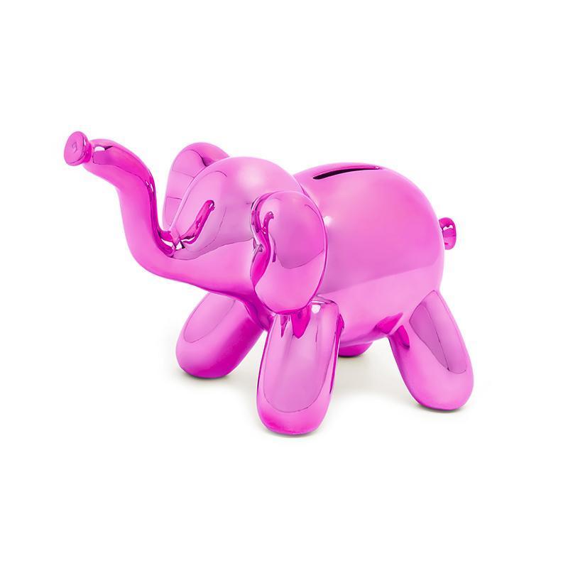 迷你大象存錢筒 - 桃紅色