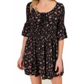 ファッション ドレス Coco + Jaimeson NEW Black Womens Size Medium M Floral A-Line Dress