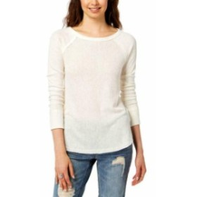 lucky ラッキー ファッション トップス Lucky Brand Womens Sweater White Ivory Size Large L Thermal Scoop Neck