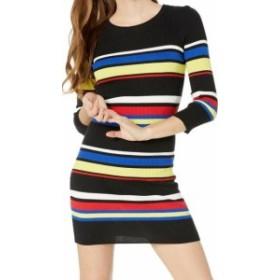 Sanctuary サンクチュアリ ファッション ドレス Sanctuary NEW Black Womens Size Large L Striped Ribbed Sweater Dress
