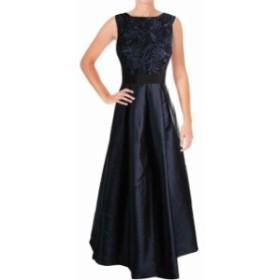 Ellen Tracy エレントレーシー ファッション ドレス Ellen Tracy NEW Blue Womens Size 8 Sleeveless Embroidery Arcadia Gown