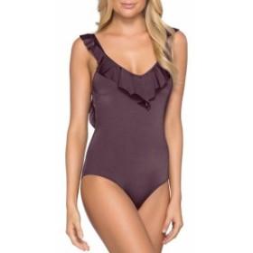 JETS by Jessika Allen  スポーツ用品 スイミング Jets by Jessika Allen NEW Purple Womens 4 One-Piece Ruffle Swimwear