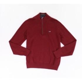 Red  ファッション トップス Umberto Bilancioni NEW Red Mens Size Small S Knit 1/2 Zip Sweater