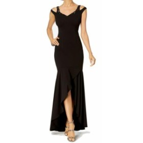 Adrianna Papell アドリアーナ パペル ファッション ドレス Adrianna Papell Womens Dress Black Size 12 Shoulder-Cutout Gown