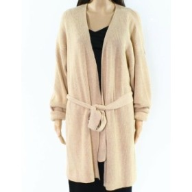 ファッション トップス J. Crew Womens Nude Beige Size 3X Plus Belted Cable-Knit Cardigan