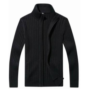 ファッション トップス AOLI RAY Mens Sweater Black Size Medium M Full Zip Jacket Mock Neck
