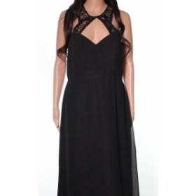 Hayley Paige ヘイリーペイジ ファッション ドレス Hayley Paige NEW Black Laced Top Cutout Open Back Womens Size 12 Gown