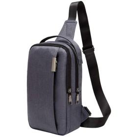 zraya ボディバッグ ショルダーバッグ メンズ 軽量 人気 多機能通勤 iPad mini収納可能