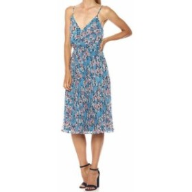 Ali & Jay アリ&ジェイ ファッション ドレス Ali & Jay NEW Blue Womens Size Medium M Floral Pleated Sheath Dress