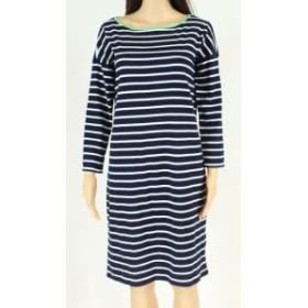 American  ファッション ドレス American Living Womens Dress T-Shirt Navy Blue Size Medium M Striped