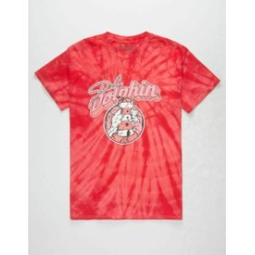 Pink Dolphin ピンクドルフィン ファッション トップス Pink Dolphin Lighthouse Bubble Regular Fit T-Shirt Streetwear Red Tie Dye Me