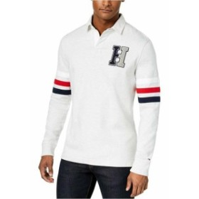 HEATHER  ファッション アウター Tommy Hilfiger Heather Gray Mens Size 2XL Long Sleeve Polo Rugby Shirt