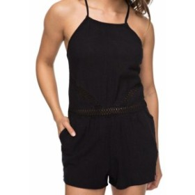 Roxy ロキシー ファッション ジャンプスーツ Roxy Jumpsuit Black Size Large L Junior Solid Halter Crochet Lace