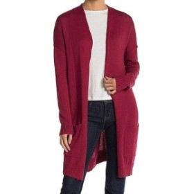 Red  ファッション トップス ABOUND NEW Red Womens Size Small S Knit Open Front Pocketed Cardigan