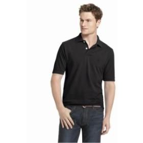 Heritage  ファッション アウター Izod Mens 100% Cotton Heritage Solid Black Polo Shirt Sz: S