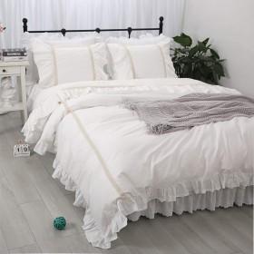 可愛いコットン掛け布団カバー/枕カバー2枚 寝具カバー シングル