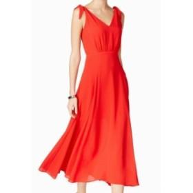 Betsey Johnson ベッツィージョンソン ファッション ドレス Betsey Johnson Womens Dress Red Size 2 Sheath Chiffon V-Neck Tie
