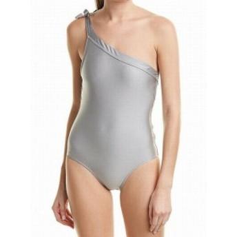 Letarte  スポーツ用品 スイミング Letarte NEW Silver Womens Size Small S One-Piece One-Shoulder Swimwear