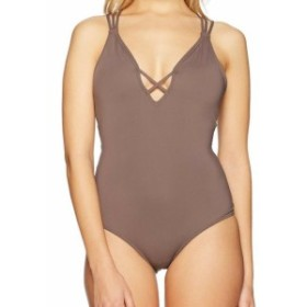 ONeill オニール スポーツ用品 スイミング ONeill NEW Brown Womens Size Small S One-Piece Solid Strappy Swimwear #918