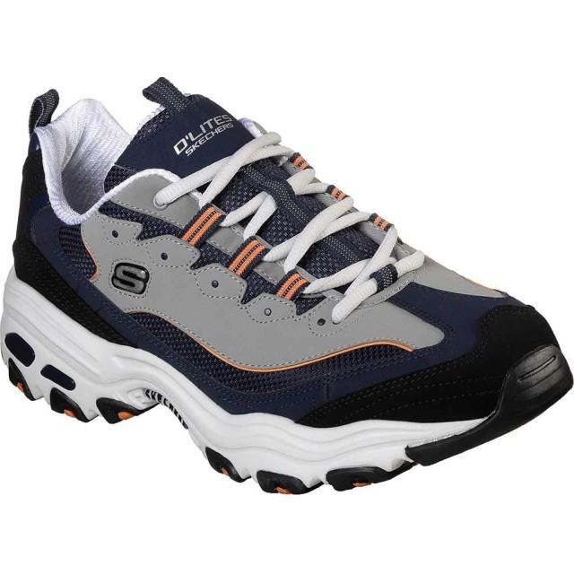 [スケッチャーズ] シューズ スニーカー D'Lites Sneaker Navy/Orang メンズ [並行輸入品]