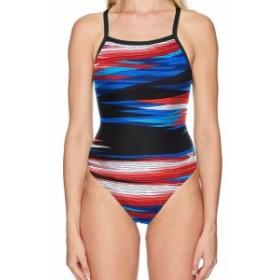 speedo スピード スポーツ用品 スイミング Speedo NEW Blue Red Womens Size 24 One-Piece Abstract Printed Swimwear #377