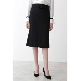 PINKY & DIANNE ウールサキソニーバックマーメイドスカート ひざ丈スカート,ブラック