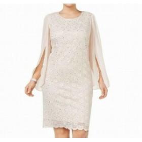 Split スプリット ファッション ドレス Connected Apparel Womens Dress Pink Size 24W Plus Sheath Split Sleeve