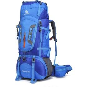 バルクバッグ登山バックパックキャンプ、ハイキング防水マルチプラグ,青