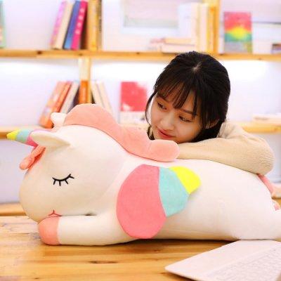公仔抱枕 睡枕可愛ins網紅獨角獸公仔毛絨玩具布娃娃抱枕女孩睡覺床上生日禮物