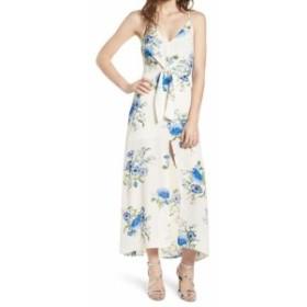 Lush ラッシュ ファッション ドレス Lush NEW White Blue Womens Size Medium M Floral Printed Tied Maxi Dress #954