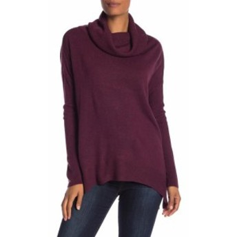 ファッション トップス Susina Womens Purple Size XS Tunic Ribbed Trim Cowl Neck Sweater