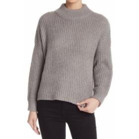 ファッション トップス Elodie Womens Gray Size Medium M Pullover Turtleneck Mock Knit Sweater