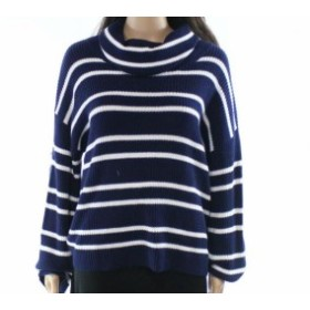 ファッション トップス Abound NEW Deep Blue Womens Size Small S Cowl Neck Striped Sweater