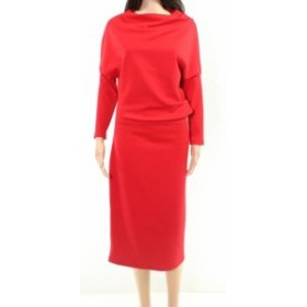 Fire ファイア ファッション ドレス Lila Kass NEW Fire Red Womens Size Small S Solid Textured Sheath Dress