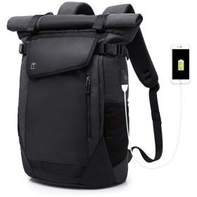 [star e bussiness] ビジネスリュック 大容量 15.6インチ PCリュック バックパック 鞄 ザック 多機能 雨対策 背中通気 収納力バツグン 防水耐震 旅行 通勤 通学 学生 スクエアリュック シンプル カジュアル メンズ 黒