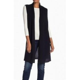 One  ファッション トップス Halogen NEW Black Womens One Size Vest Sleeveless Cashmere Sweater